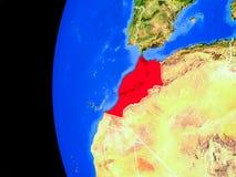 Le Maroc de l'espace illustration de vecteur