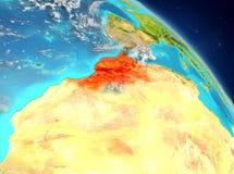 Le Maroc de l'orbite Photo stock