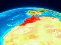 Le Maroc de l'orbite Photographie stock libre de droits