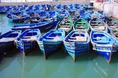 Le Maroc, Essaouira : bateaux Image libre de droits