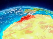 Le Maroc sur terre Image stock