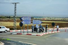 Le Maroc, le trafic Images libres de droits