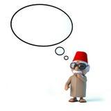 le Marocain 3d avec pensent la bulle Images stock