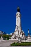 Le marquis du grand dos de Pombal, Lisbonne Images libres de droits