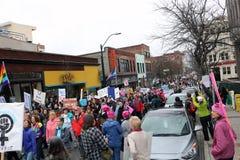 Le ` mars Asheville OR des femmes Photographie stock libre de droits