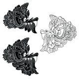 Le maschere del dio mitologico Stile di balinese Barong Royalty Illustrazione gratis