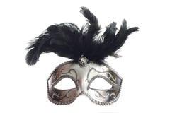 Le masque argenté a isolé Photo libre de droits