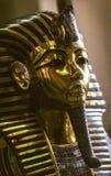 Le masque d'or de Tutankhamun dans le musée d'Egyptien de tge image libre de droits