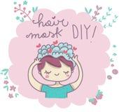 Le masque de cheveux le font vous-même illustration libre de droits