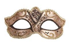 Le masque de fête en bronze initial de carnaval   Image stock