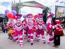 Le masque de fantôme de Phi Ta Khon Festival Photos libres de droits