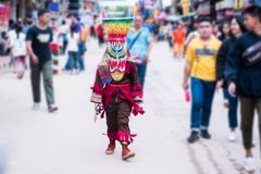 Le masque de fantôme de Phi Ta Khon Festival Image libre de droits