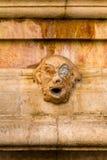 Le masque sur la fontaine, Jérusalem photos libres de droits