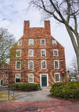 Le Massachusetts Hall dans la cour de Harvard de l'Université d'Harvard dans Camb Images libres de droits