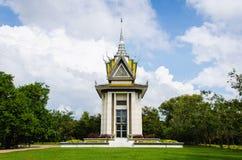 Le massacre de pagoda de crâne met en place Phnom Penh, Cambodge Images libres de droits