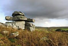 Le massif de roche de Carbilly sur Bodmin amarrent Photo stock