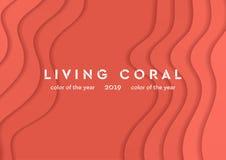 Le matériel d'entreprise de corail vivant ondule le fond abstrait illustration de vecteur