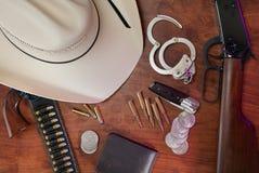 Le matériel du shérif Photo stock