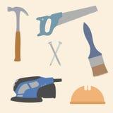 Le matériel usine l'illustration de vecteur d'icônes Photos libres de droits