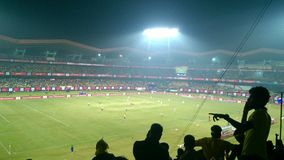 Le match de football Photographie stock