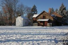 Le matin après la première neige Photographie stock libre de droits