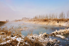 Le matin d'hiver Photographie stock