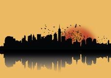 Le matin de ville Illustration Stock