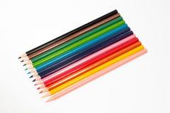 Le matite colorano isolato su bianco Immagini Stock Libere da Diritti