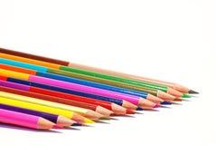 Le matite di colore hanno isolato immagini stock libere da diritti