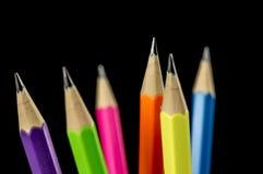 Le matite variopinte si chiudono su Fotografie Stock Libere da Diritti