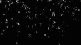 Le matrici del fondo delle lettere Matrice dell'alfabeto inglese illustrazione vettoriale