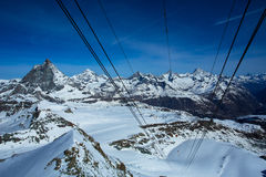 Le Matterhorn de la station de Kiein Matterhorn Photographie stock