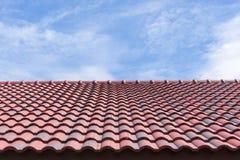 Le mattonelle di tetto con il cielo Fotografia Stock Libera da Diritti