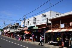 Le Mauritius, villaggio pittoresco di Goodlands immagini stock