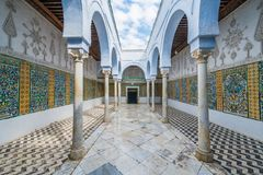 Le mausolée de Barbier dans Kairouan, Tunisie images stock