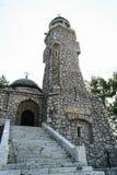 Le mausolée de héros situé sur la colline de Mateias Le monument est consacré aux héros de Première Guerre Mondiale Il est situé  Photographie stock libre de droits