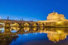 Castel Sant Angelo en Parco Adriano, Rome, Italie Photographie stock