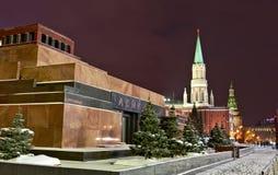 Le mausolée de Lénine, grand dos rouge, Moscou Photographie stock libre de droits