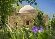 Le mausol?e antique de Karahan, ville de Taraz, Kazakhstan image libre de droits