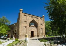 Le mausol?e antique de Karahan, ville de Taraz, Kazakhstan images libres de droits
