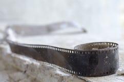 Le mauvais d'état de boîte métallique de film Image libre de droits