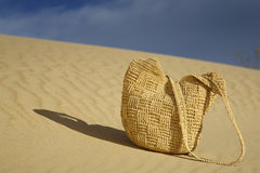 Le mauvais de plage sur une dune d'océan Photo stock