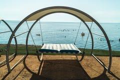 Le mauvais de repos de plage Image libre de droits