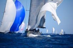 Le maxi yacht Rolex mettent en forme de tasse Photographie stock