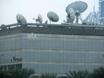 Le MBC, le centre de radiodiffusion de Moyen-Orient, creuse des rigoles le bâtiment et l'installation de nouvelles à Dubaï, Emira images stock