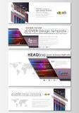 Le media social et les en-têtes d'email ont placé, les bannières modernes Calibre abstrait de conception, disposition de vecteur  Photos libres de droits