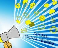 Le media social tend l'illustration du commerce 3d d'Emarketing d'expositions illustration libre de droits