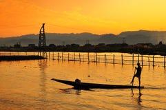 In-le Meer, Myanmar stock foto