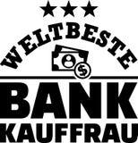 Le meilleur Allemand féminin de banquier des mondes illustration stock