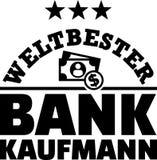 Le meilleur Allemand masculin de banquier des mondes illustration de vecteur